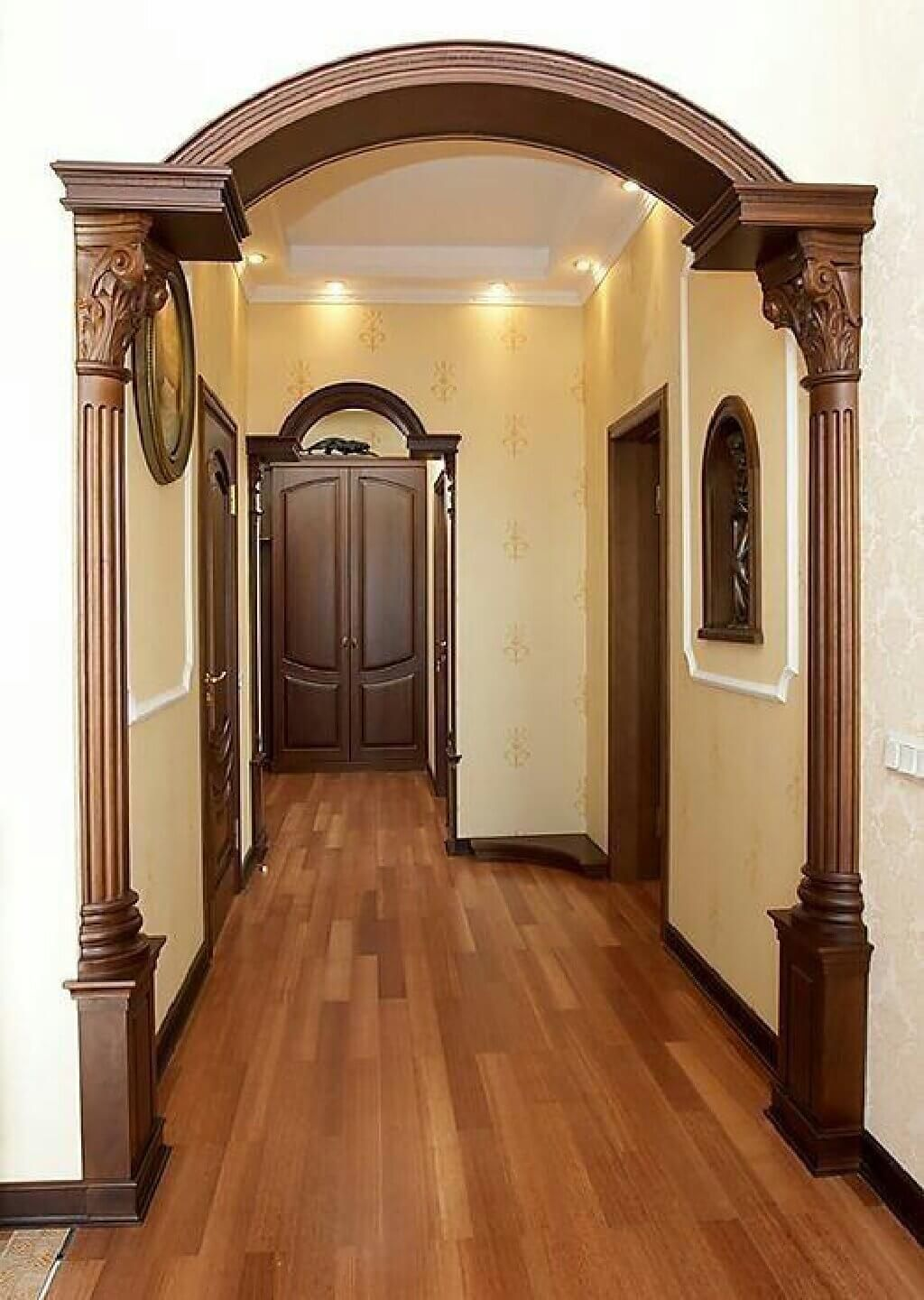 Top 30 Ideas To Decorate With Wooden Arches Your House Engineering Discoveries House Arch Design House Design Door Design Living room arch accessories