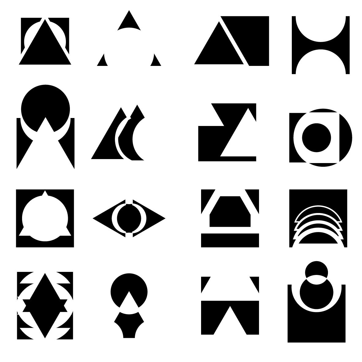 Interaccion De Formas Circulos Triangulo Y Cuadrados Temel Sanat Cizilecek Seyler Eskiz