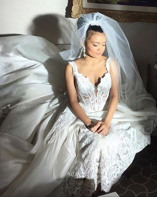 Though she didn't go through with the wedding, Laura (Jamila Velazquez) looked lovely in a gown from Pnina Tornai's Wind Upon Water collection in Empire's surprising season 2 finale.