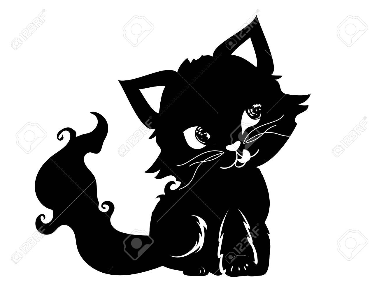 Halloween Black Kitten Cute Cartoon Cat Design Black Cat Kitten Halloween Png Clipart Animals Animat Black Cat Halloween Black Cat Pictures Black Cat Artwork