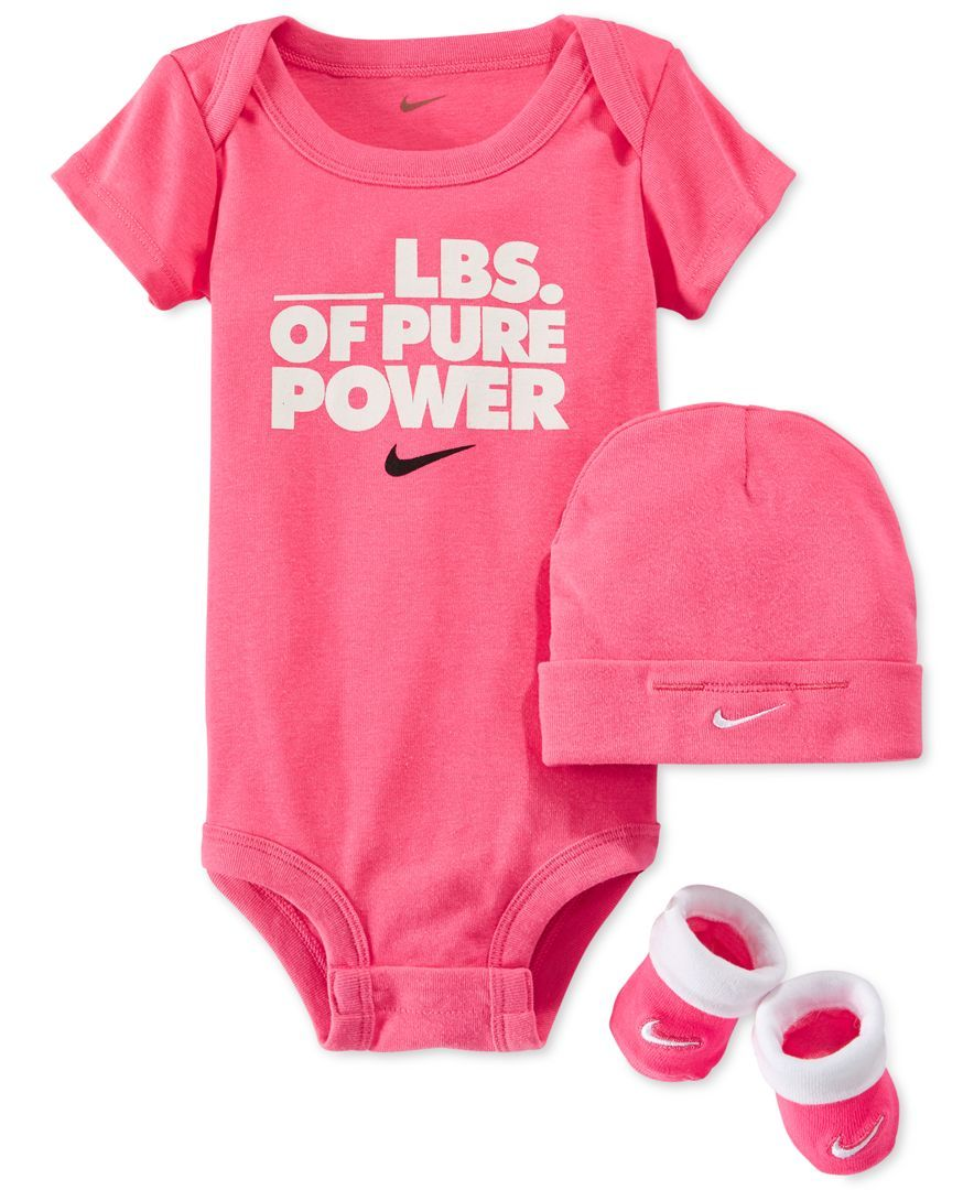 b3b381e5318 Nike Baby Girls  3-Piece Pure Power Bodysuit
