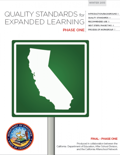 Quality standards for expanded learning programs evaluation quality standards for expanded learning programs after school network fandeluxe Gallery