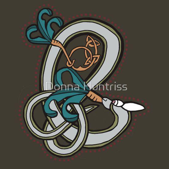 Celtic Rabbit Letter E - New Edition