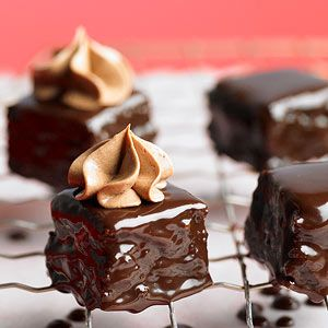 BourbonBrownie Petit Fours Recipe Bourbon Brownies And - Better homes and gardens brownie recipe