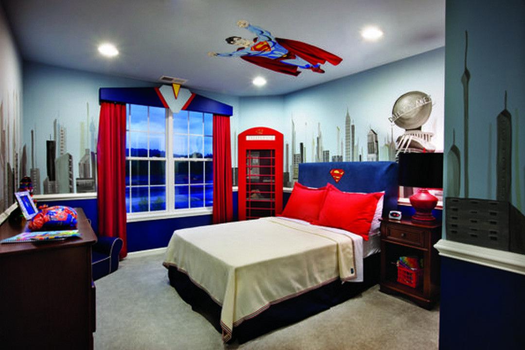 gorgeous boy's superheroes themed bedroom decor  superman