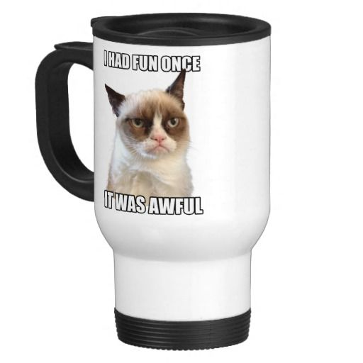Official Grumpy Cat™ Mug. For details or ordering click on the image or text! #GrumpyCat #Gifts #TravelMug