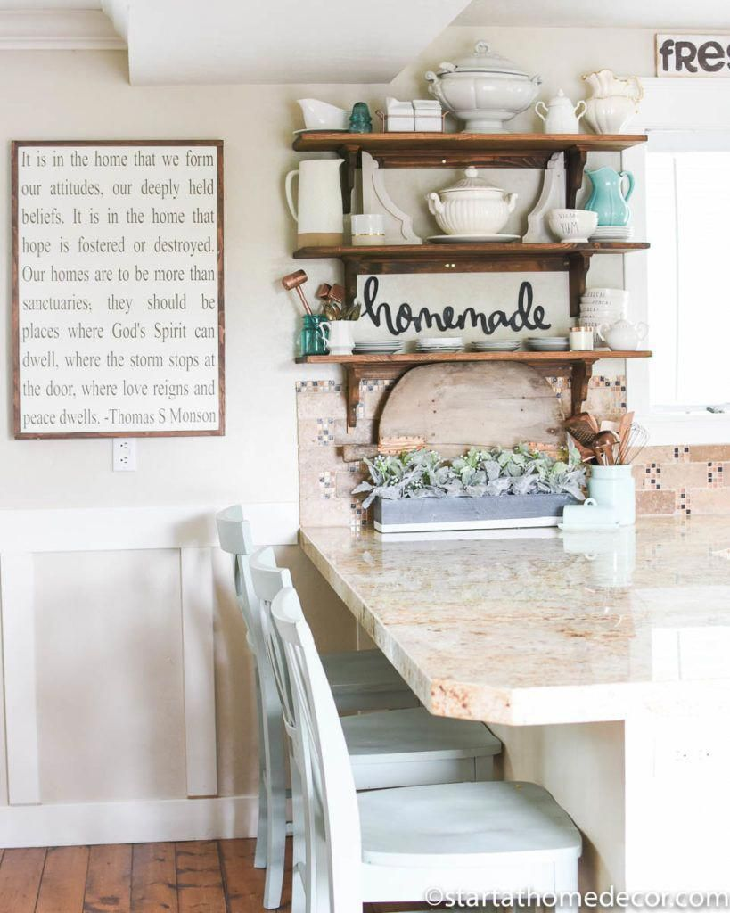 Open shelving simple decorating tips to transform your kitchen kitchenremodeling also rh pinterest
