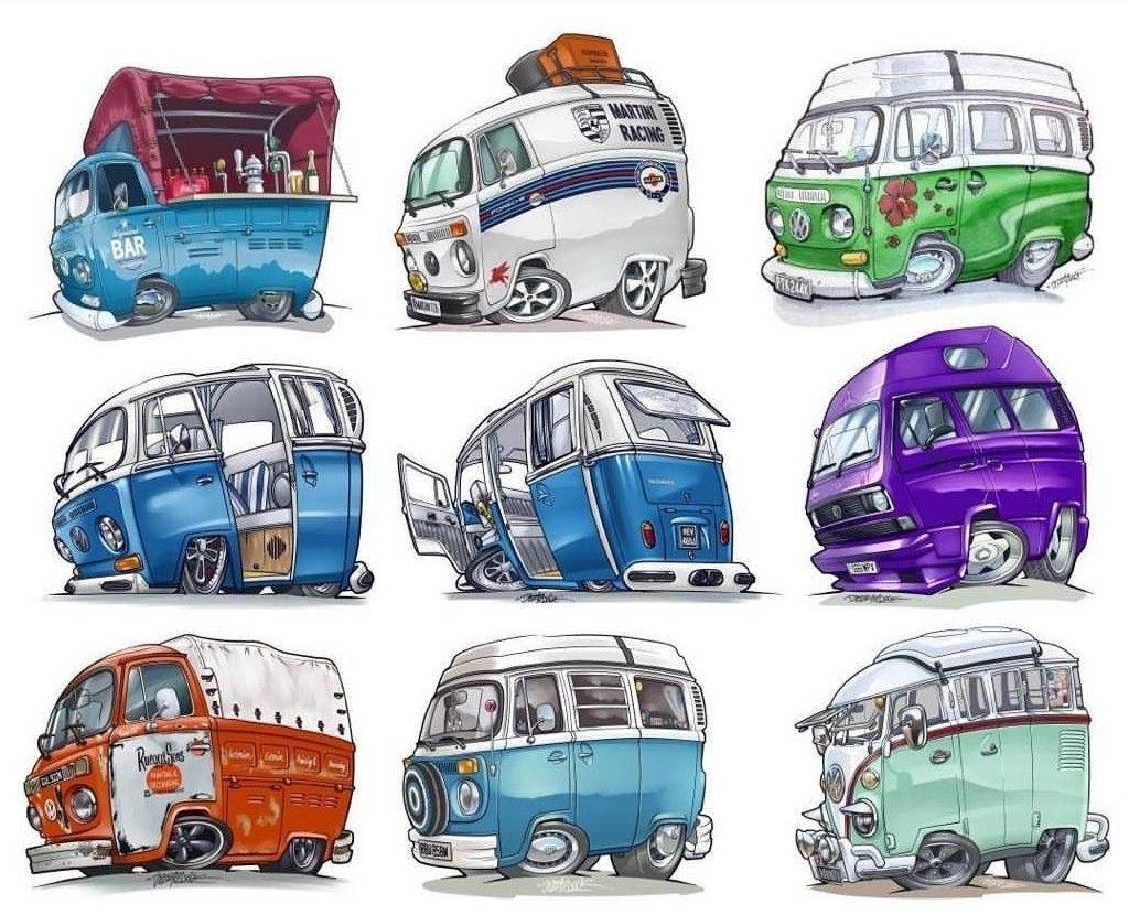 Art Cars Vw Art Bus Art