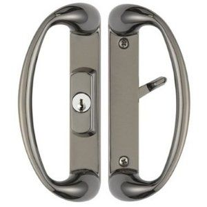 Captivating Cambridge Sliding Door Handle With Center Position Keylock In Black Chrome  Finish Fits 1 3
