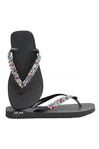 e3c233287 Havaianas by Lori Jack Top Swarovski Crystal Flip Flops 3738 BlackConfetti     You can get more details by clicking on the image.