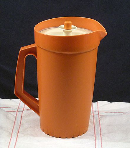 Vintage Orange Tupperware Pitcher 800 10 Growing Up In The 70s