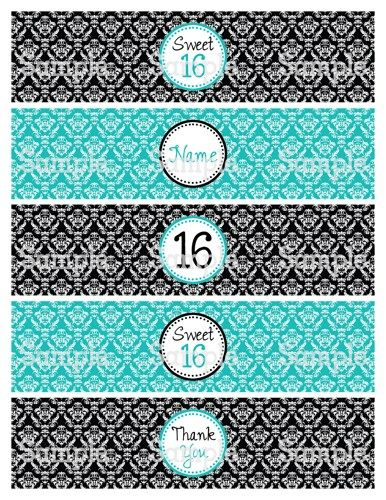 Pin By Janet Saywers On Personalized Digital Products You Print Sweet 16 Printable Party Decorations Damask