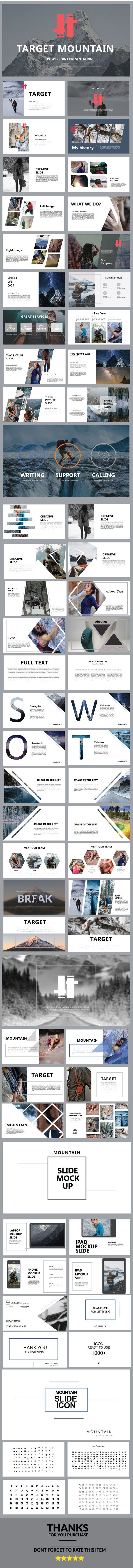 Target Mountain Presentation Templates | Business powerpoint ...