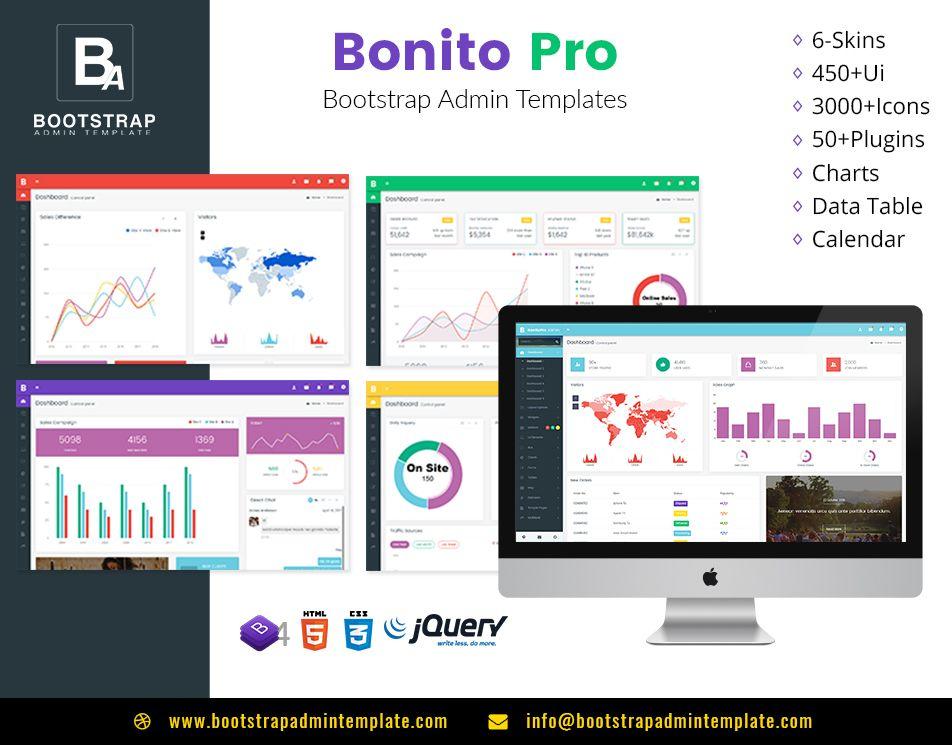 Bonito Pro Lite Bootstrap Admin Templates Web Apps Ecommerce Template Templates Dashboard Template