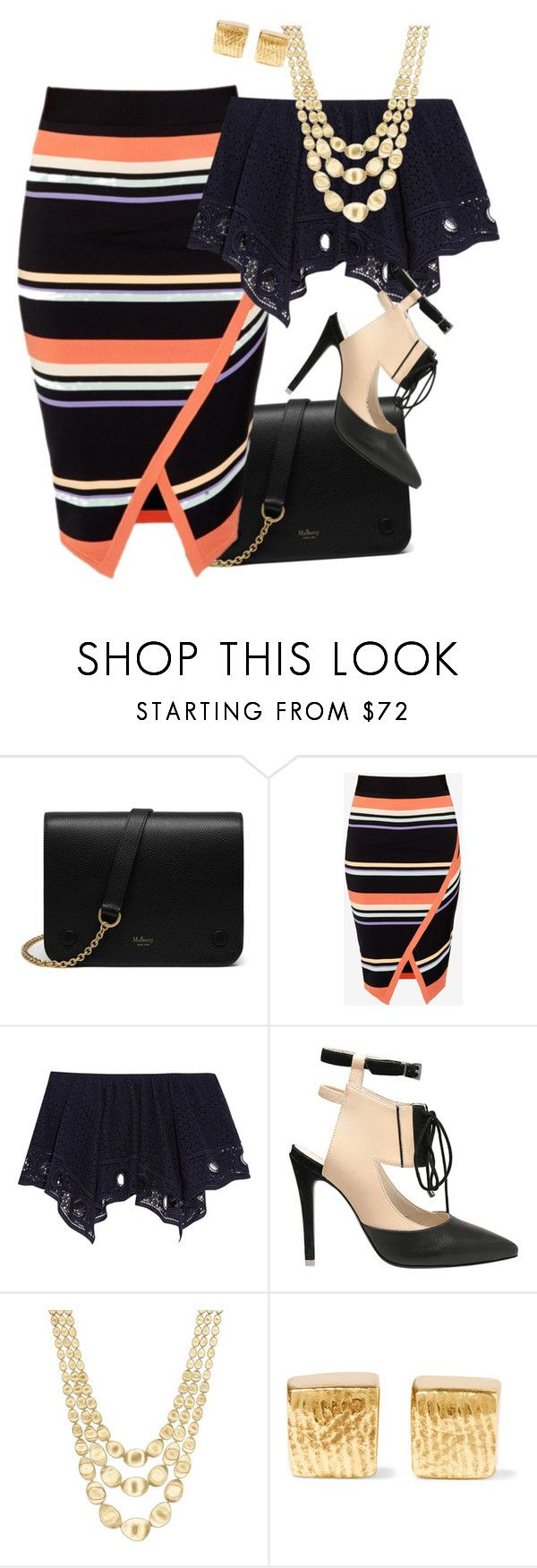 stripe skirt\