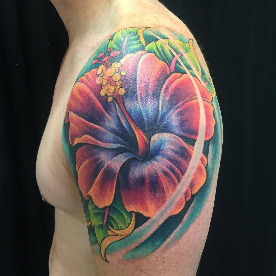 33 Hibiscus Flower Tattoos With Unique and Colorful