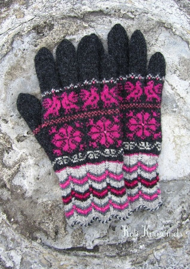 Estonian Gloves Patterns From The Muhu Island Knitted By Kati