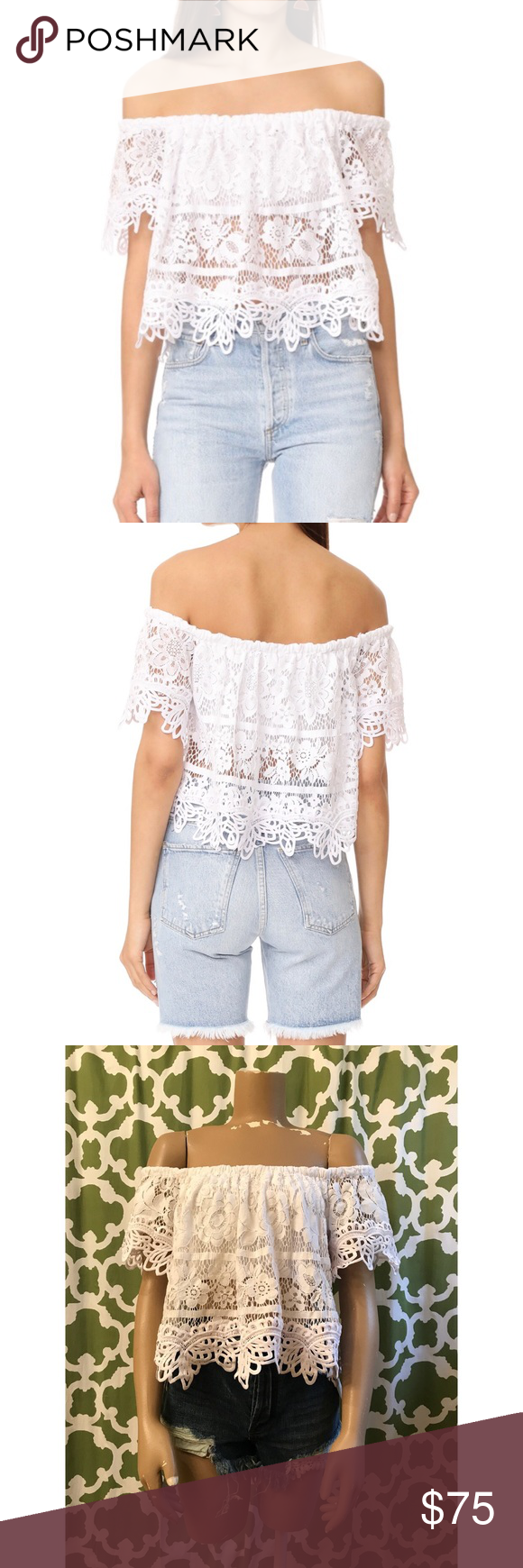 3f880728b77c4 NWT Free People Sweet Dreams Lace Crop Top