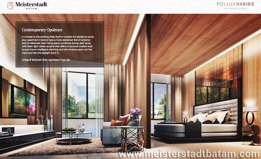 Design interior apartment Meisterstadt Batam The