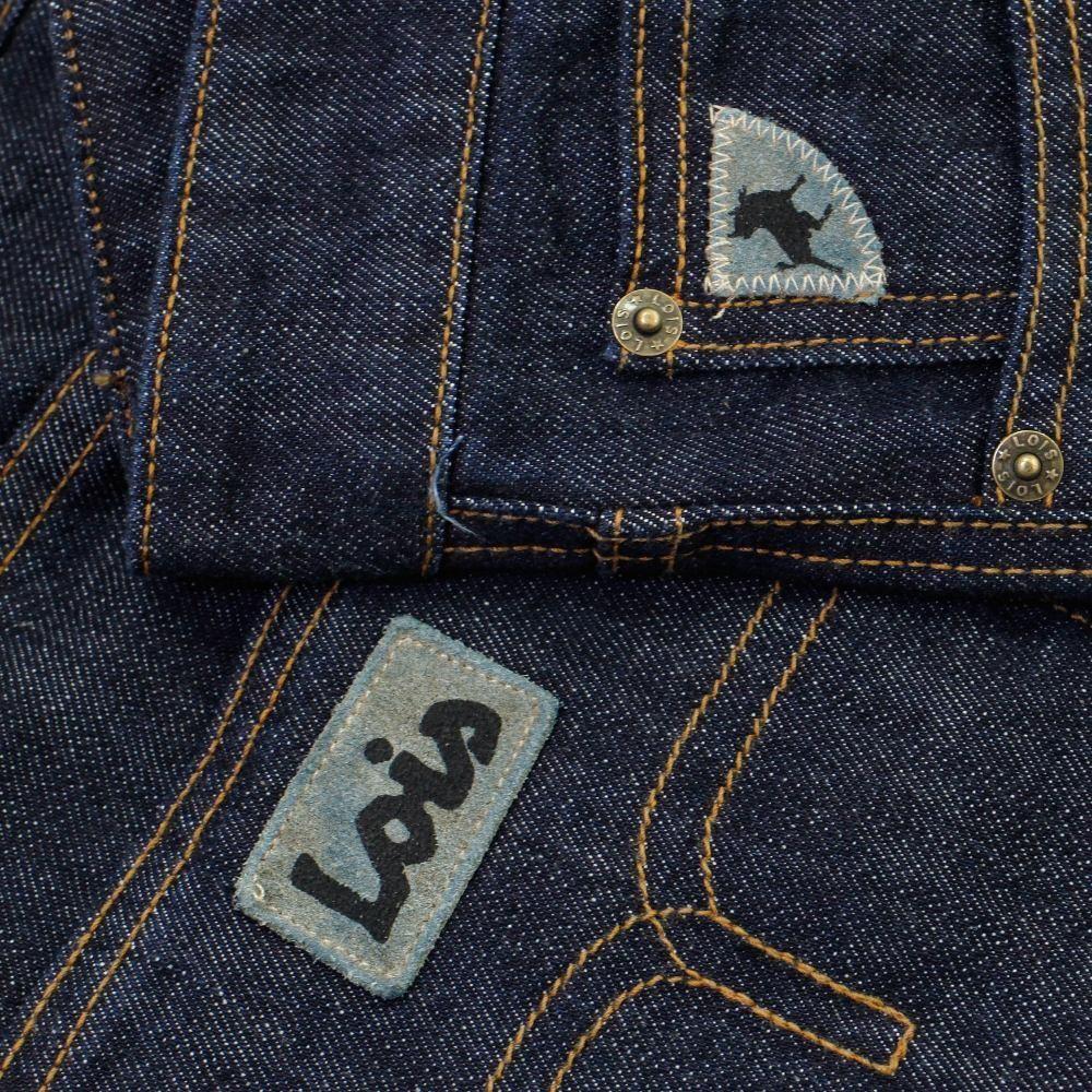 Lois Logo T Shirt in Navy /& Yellow iconic Spanish denim jean /& cords brand