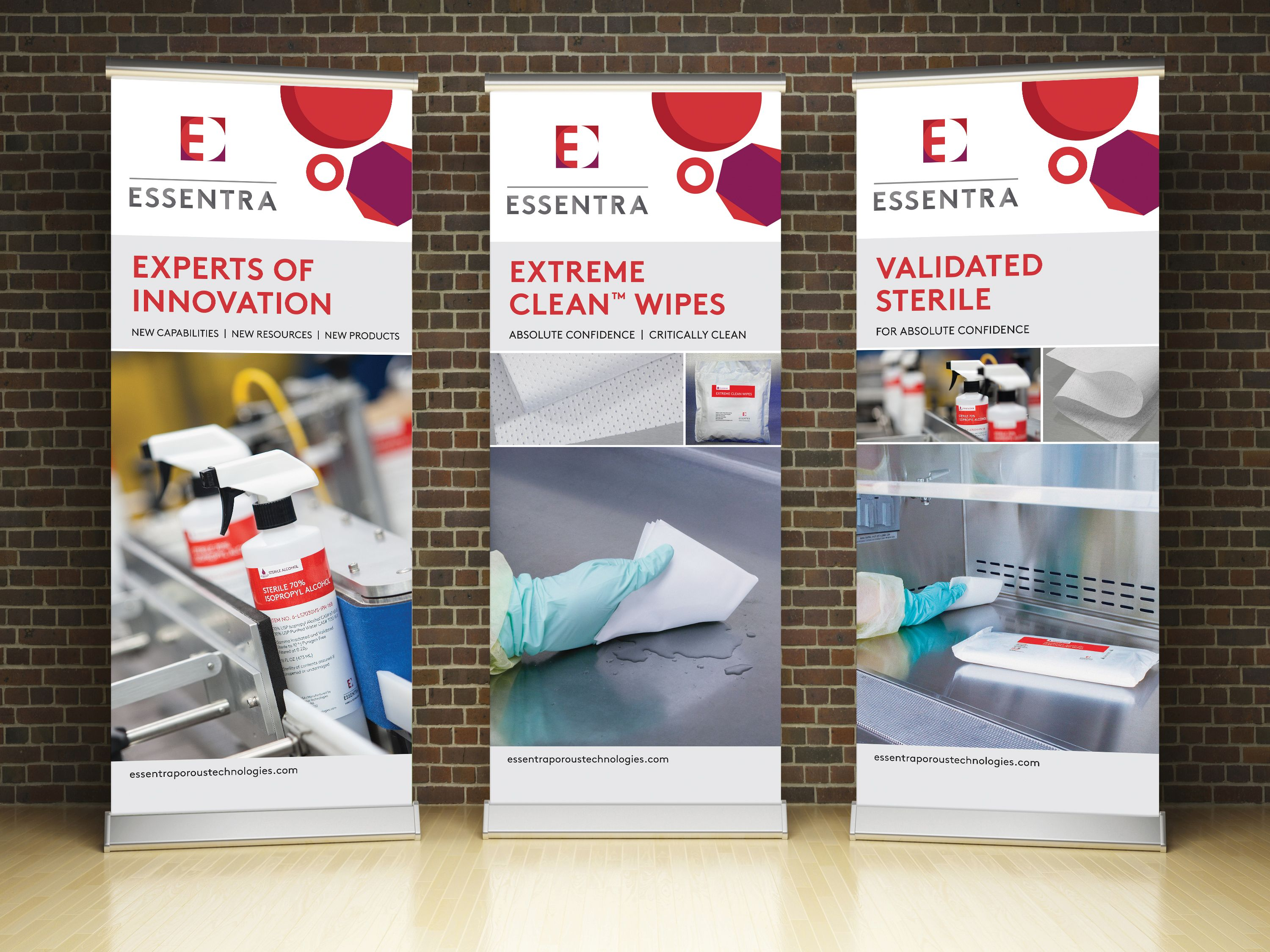 raison created promotional popup banners for a trade show display