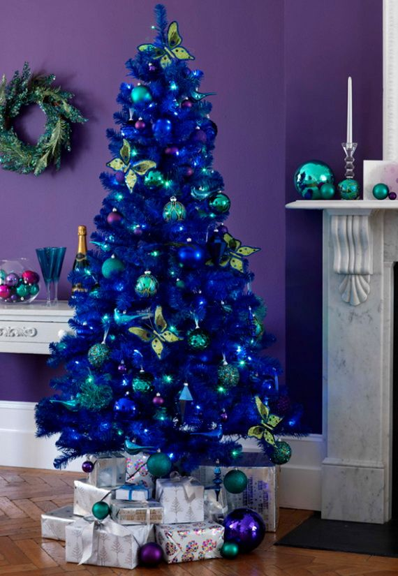 40 Fresh Blue Christmas Decorating Ideas Family Holiday Net Guide To Family Holidays On The Internet Silver Christmas Tree Blue Christmas Tree Blue Christmas Tree Decorations