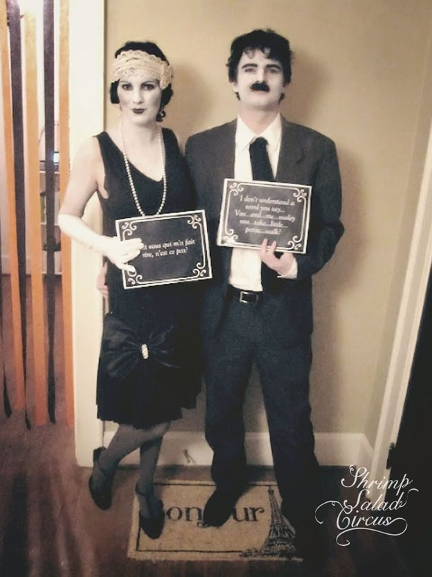 Silent film stars! Love this idea for couples Costuming - halloween duo ideas