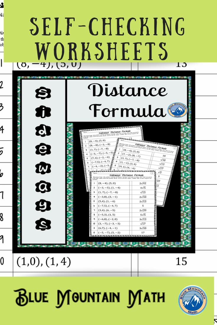 Distance Formula Worksheets Distance Formula Common Core Math Activities Formula [ 1102 x 735 Pixel ]