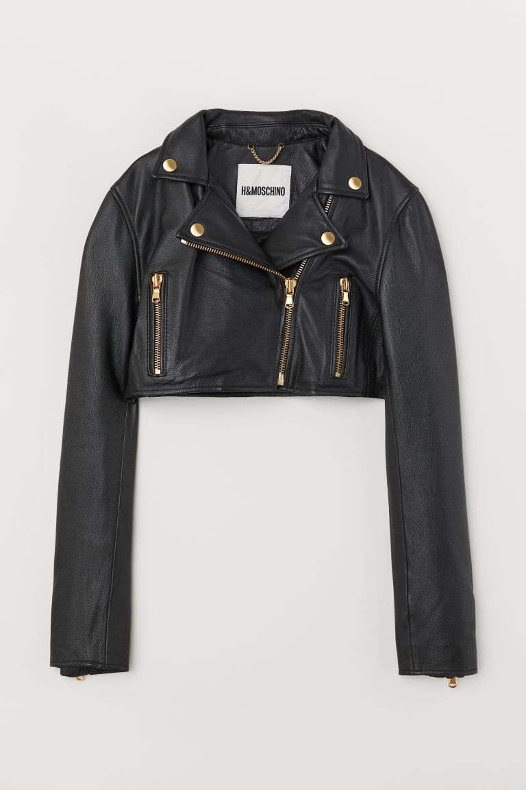 Short Leather Biker Jacket Short Leather Jacket Cropped Leather