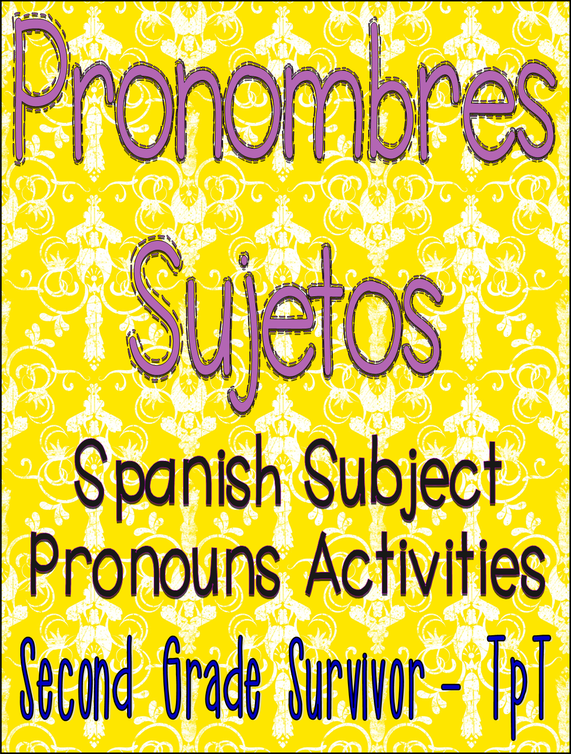 Spanish Subject Pronoun Activities