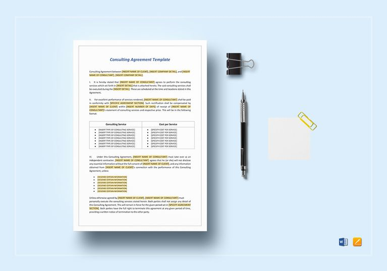 Consulting Agreement Template File size, Commercial printing and