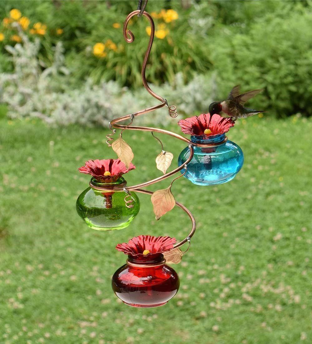 Amazon Com Vinester Multi Hummingbird Feeder Multicolored Garden Outdoor Humming Bird Feeders Hummingbird Bird Feeders