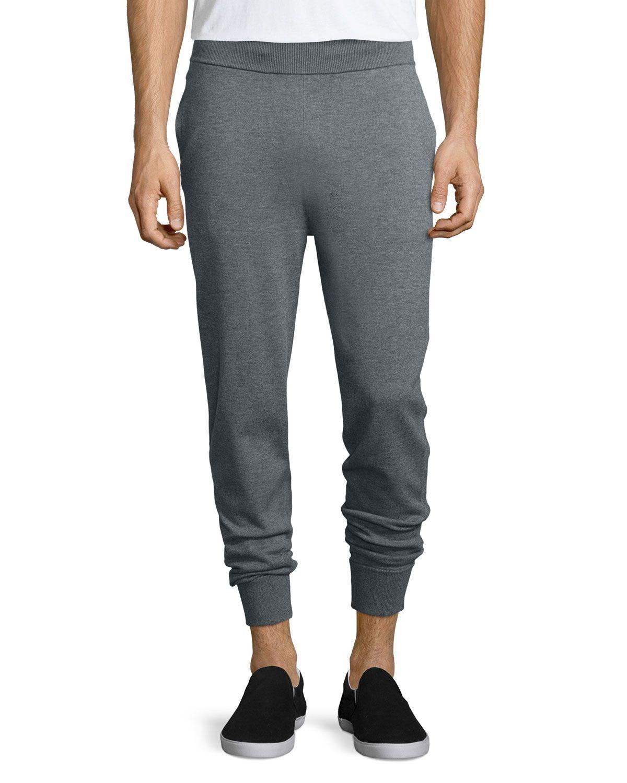 Elk J Knit Jogger Pants, Heather Gray, Men's, Size: L - Theory