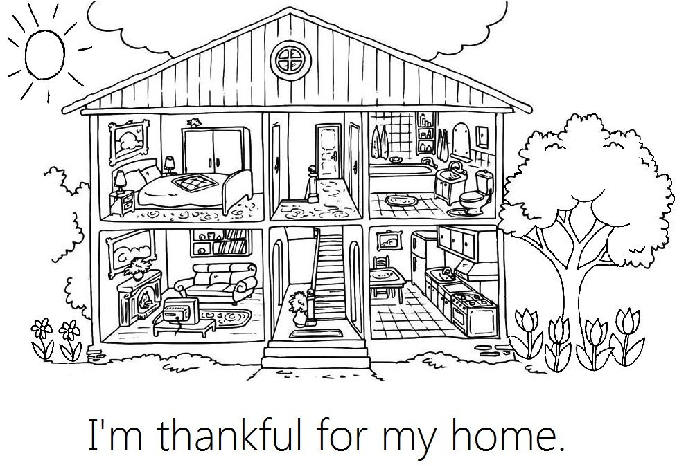 Lesson 31 I Am Thankful For My Home Coloring Pages For Kids