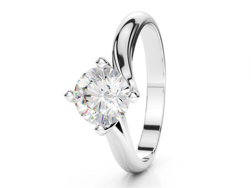 Anello Solitario 1 Carato Diamante Diamanti Colorati Anelli Diamante