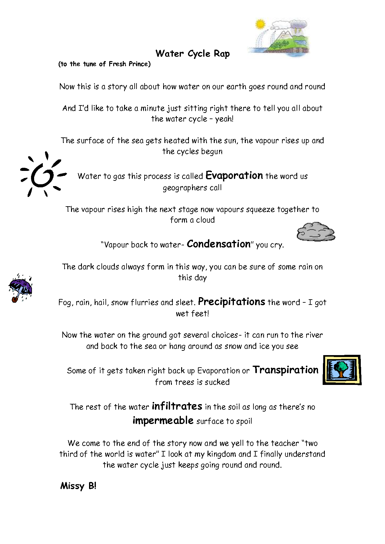 Water Cycle Rap