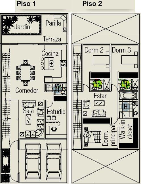 planos de casas 8 x 16