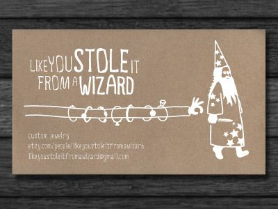 Business card for a jewelry maker business cards business and like you stole it from a wizard business card for a jewelry maker jordan rader stopboris Choice Image