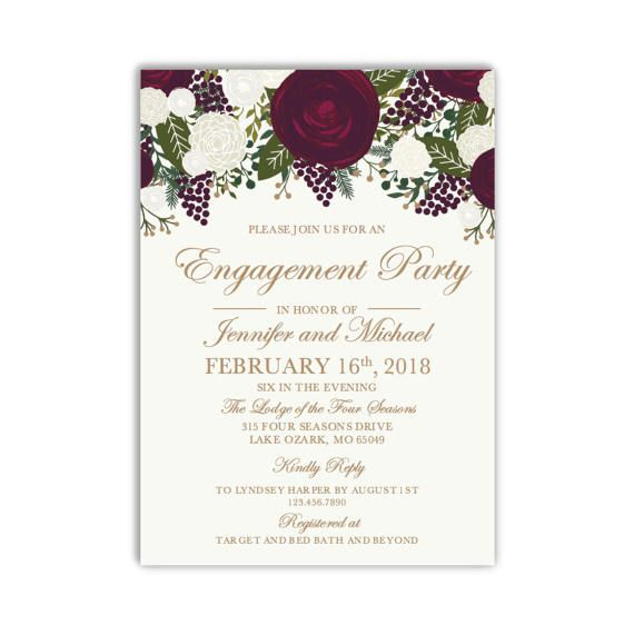Engagement Party Invitation Template DIY Engagement Invite - engagement party invites templates