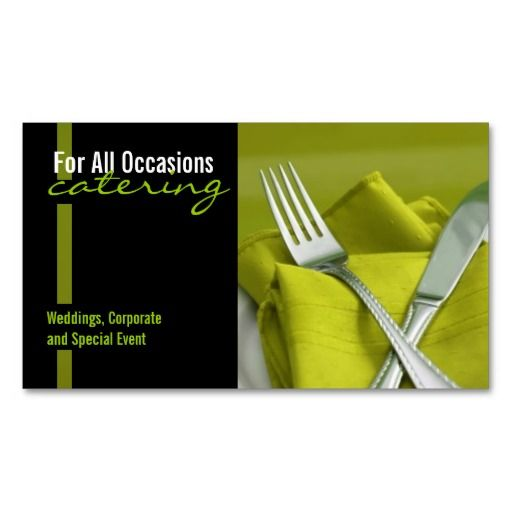 Catering Food Business Card Zazzle Com Catering Business Cards Food Business Card Catering Business