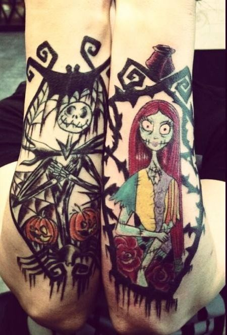 Jack and sally tattoo tattoos and piercings pinterest for Jack skellington and sally tattoos