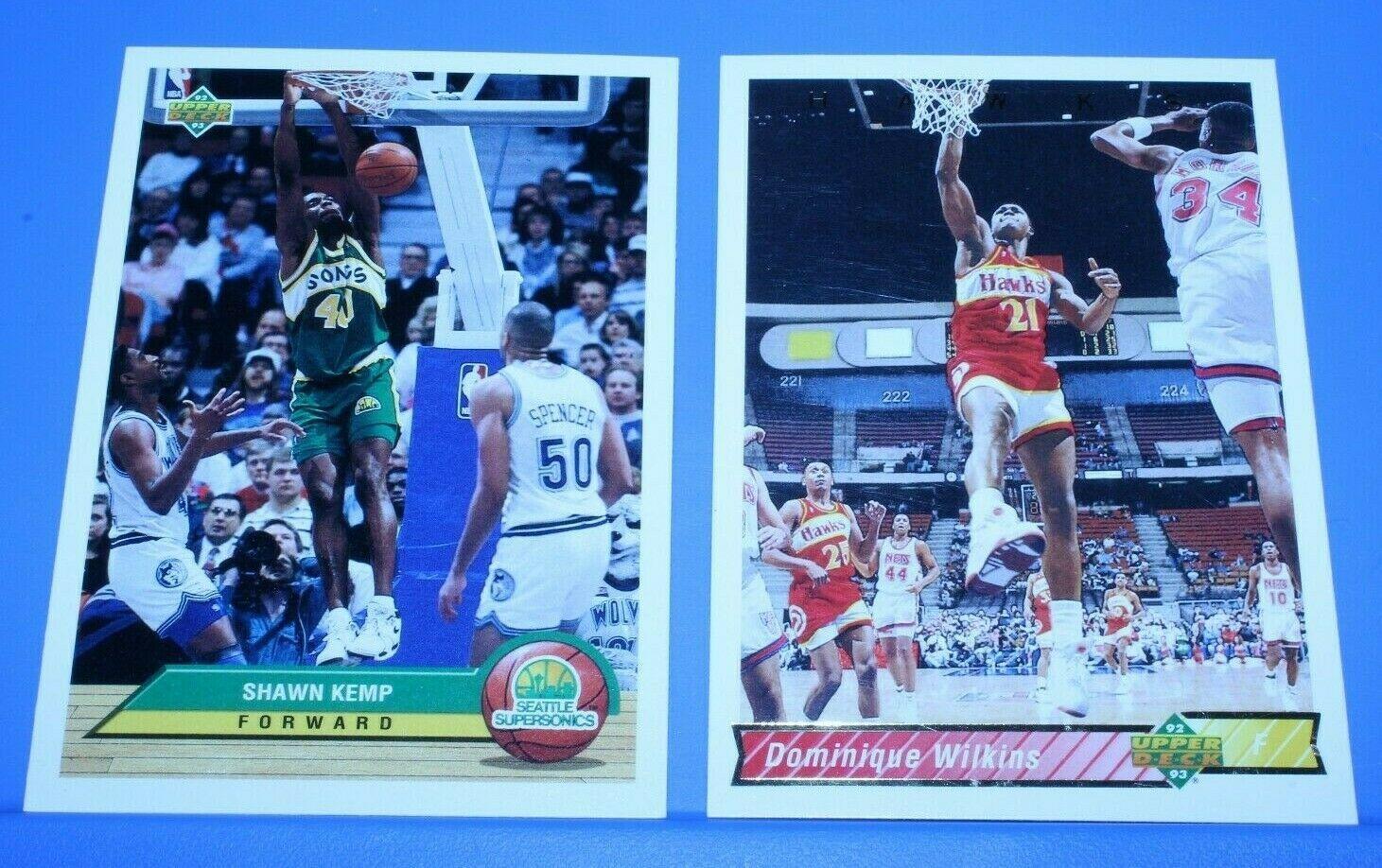 NBA superstars Shawn Kemp & Dominique Wilkins in MINT OR