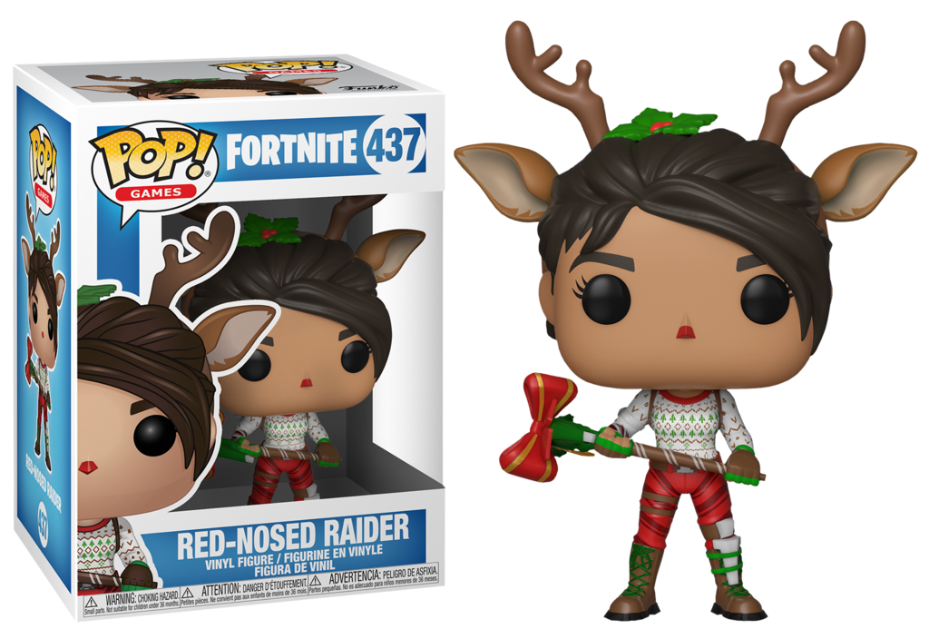 Funko Pop Red Nosed Raider Red Nosed Fortnite Epic Gamestop