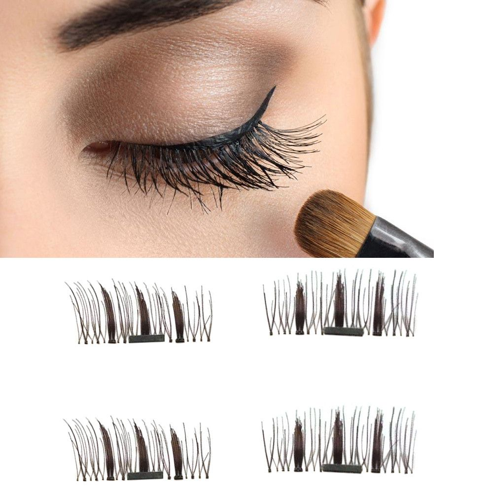 93495a2bd75 Best Deal New Fashion 4pcs Ultra-thin 0.5mm Brown Color Magnetic Fake Eye  Lashes