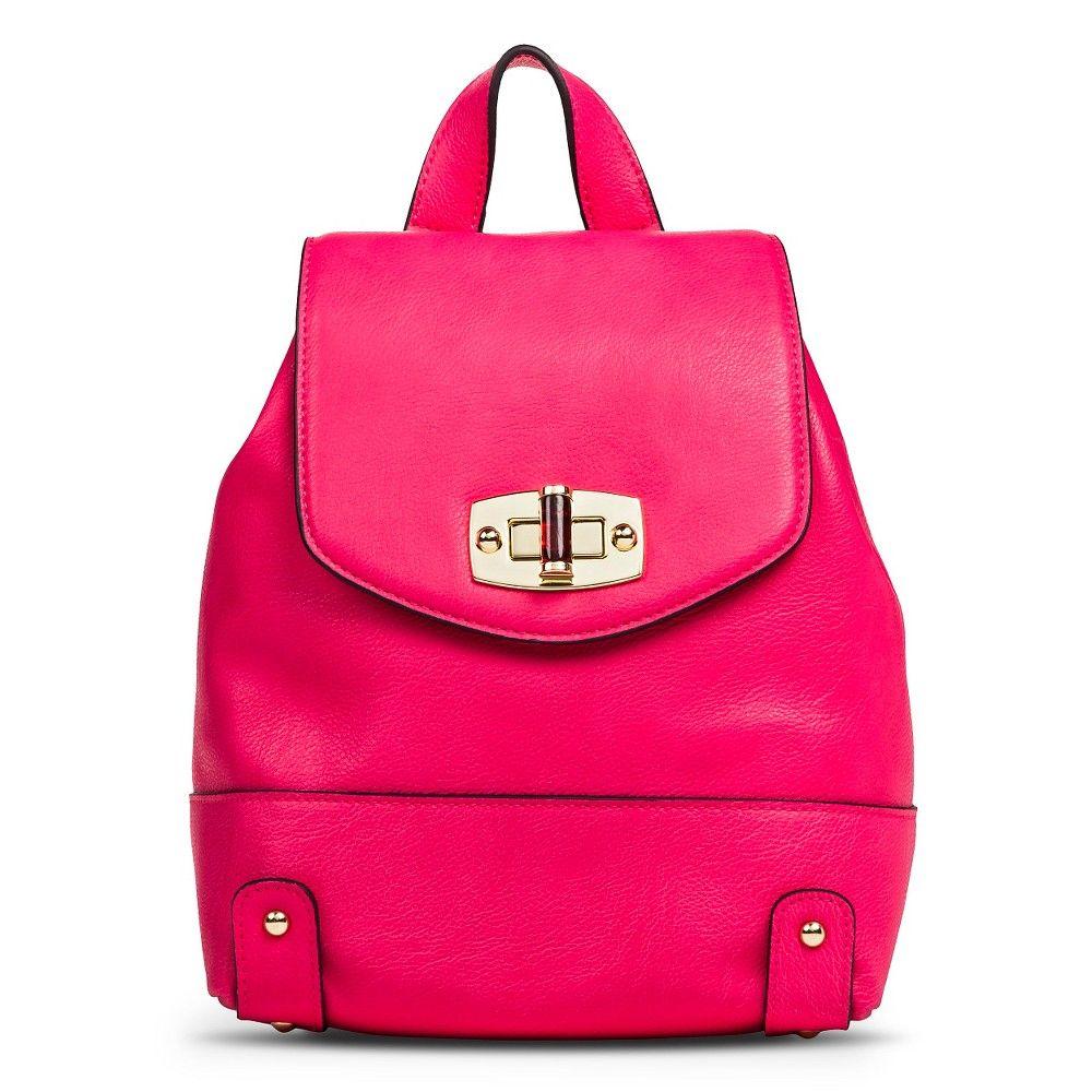8d9b47f38dd2 Women s Backpack Faux Leather Handbag Pink - Merona