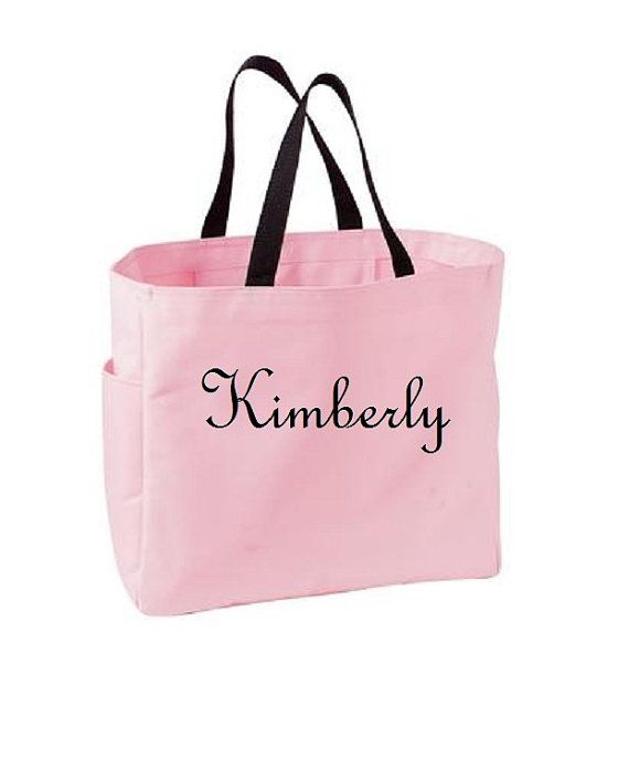 7 Personalized Tote Bag Bridesmaid Gift Cheer Dance Monogrammed Embroidered