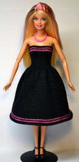 Sticka till Barbie 851 900 | Virkade klänningar