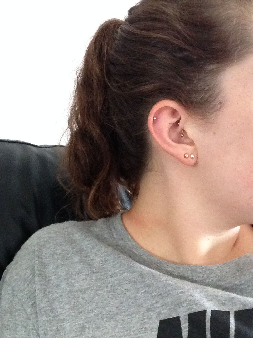 Piercing from nose to ear  Daith and helix piercing  Piercings and tattoos  Pinterest