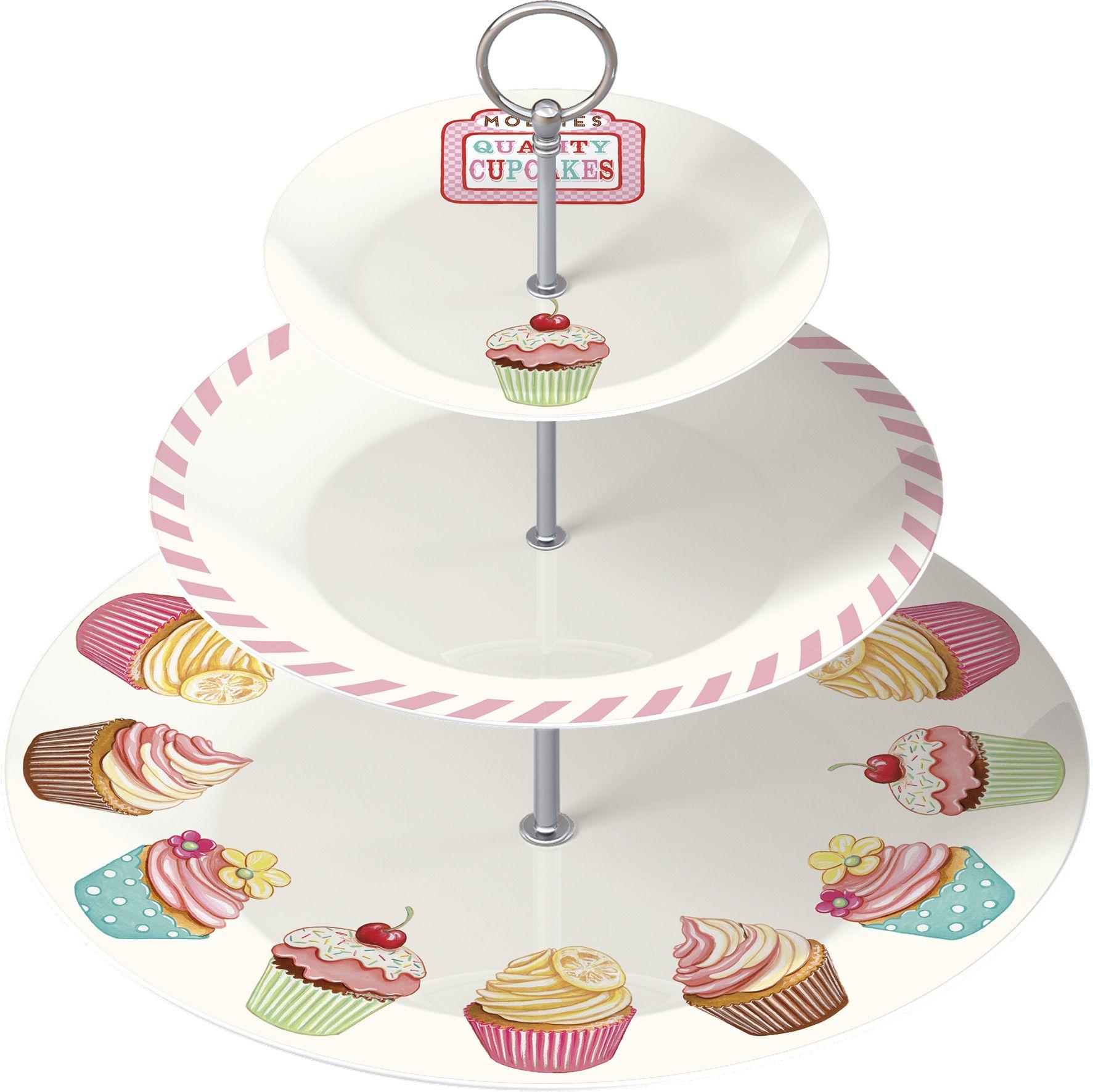 Retro Treats Three Tier Cake Stand