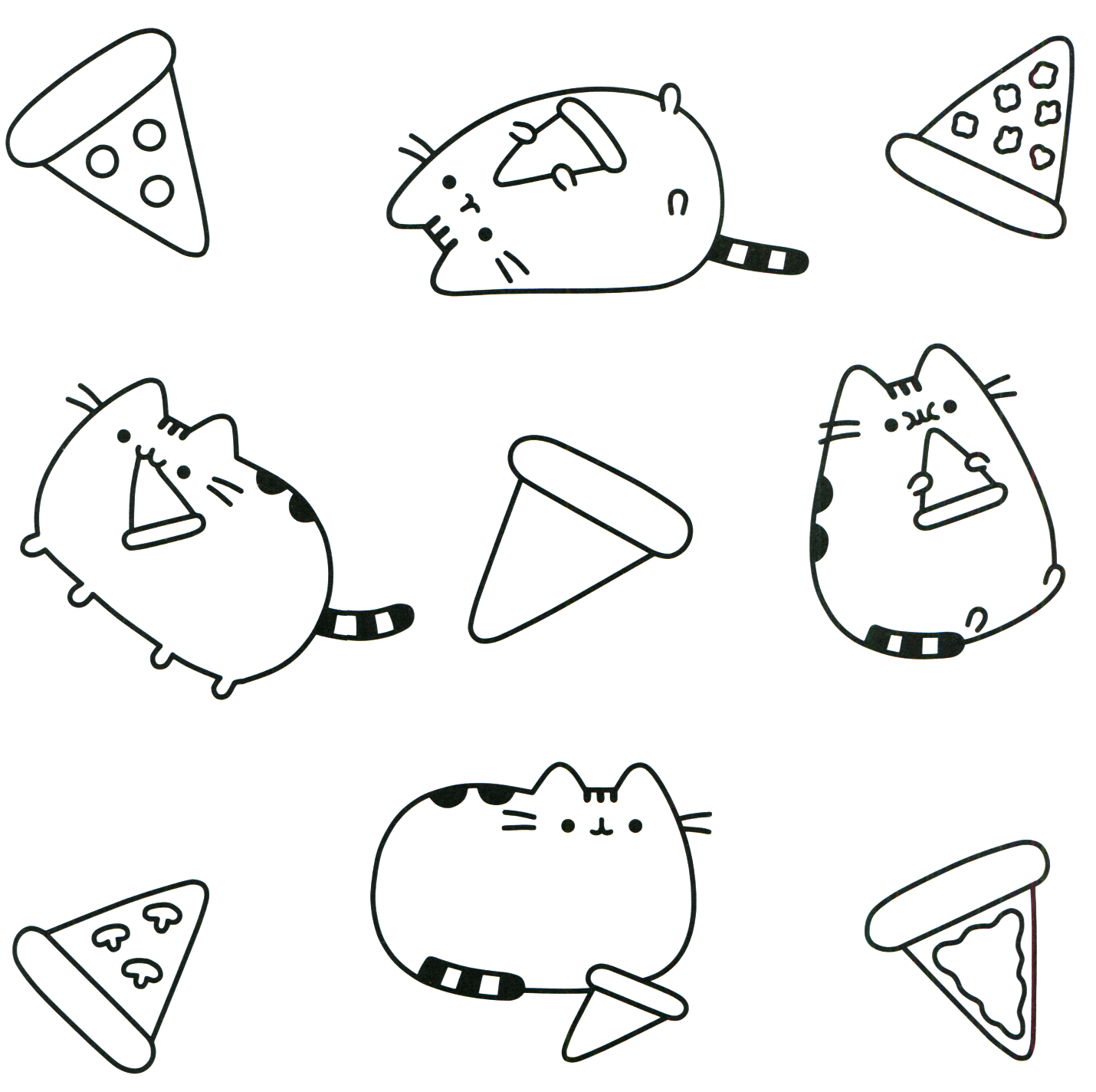 - Pusheen Coloring Pages Pusheen Coloring Pages, Cat Coloring Page